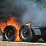 truck tire fire